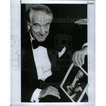 1990 Press Photo Victor Borge Oakland University music - RRX37755