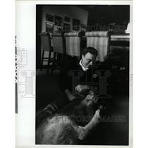 1983 Press Photo Joseph Priestley JP McCarthy II radio - RRW13045