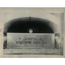 1922 Press Photo Final Resting Place Late Pontiff Bened - RRY59319