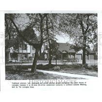 1983 Press Photo Traditional exteriors lush garages - RRV41771