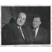 1962 Press Photo Walter Reuther Roosevelt University President Edward Sparling