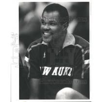 1987 Press Photo Marvin Nathaniel Webster Human Eraser Denver Nuggets Milwaukee