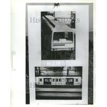1987 Press Photo Matra People Mover O'Hare Airport - RRU80607