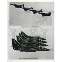 1975 Press Photo The Blue Angels in formation - XXB01225