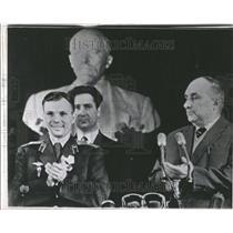 1961 Press Photo Yuri Gagarin spaceman Nesmeyanov trip - RRV53061
