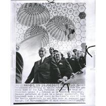 1967 Press Photo President Johnson visit space exhibit - RRV20373