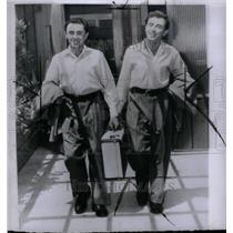 1954 Press Photo The Flying Finn Twins,Charles & George - RRU43833