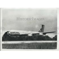 Press Photo American Jet Tanker Aircraft K.C. 135 Arrives London Transatlantic