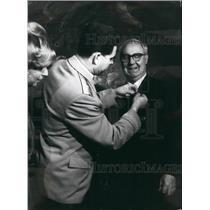 Press Photo Soviet Cosmonaut Georgy Beregovoy, President Giuseppe Saragat