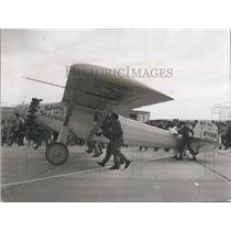 1967 Press Photo Stunt Pilot Frank Talliman Rolling Replica Spirit St Louis