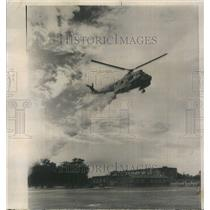 1964 Press Photo US Coast Guard Helicopter Dusting - RRU82103