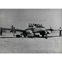 Press Photo A Plane On The Ground With Propellers Whirring - KSB61263