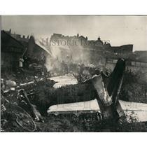 1967 Press Photo airliner crashes Stockport 72 killed Argesy British holiday