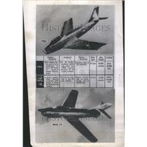 1953 Press Photo Russian Build MIG-15 Fighter Jet USSR - RRU73283