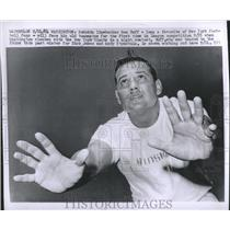 1964 Press Photo Redskins linebacker Sam Huff - RSH21455
