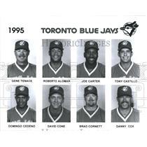 1995 Press Photo Toronto Blue Jays 1995 Gene Tenace Roberto Alomar Joe Carter