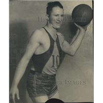 1935 Press Photo Marcel Dransfeldt, Littleton High School Center - XXB07999