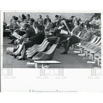 1971 Press Photo Passengers Waiting at Tampa International Airport - XXB08997