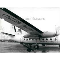 1973 Press Photo A Swiss Fokker For the United Nations - KSB28735
