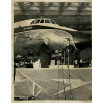 1955 Press Photo Bristol Britannia 100 Aircraft - KSB39027