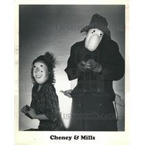 "`1990 Press Photo Chenny and Mills Will Persorm ""Mine, Masks and Clowns"""