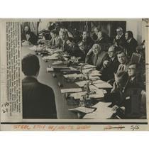 1973 Press Photo Senate Watergate Committee Lowell Weicker Fred Thompson