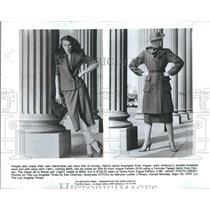 1979 Press Photo Model John Anthony Wool Suit Oscar de la Renta Suit - RSH17107