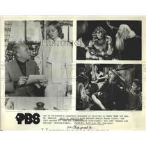 1983 Press Photo Actor Cecil DeMille pictured in 3 roles 1 includes Evelyn Keyes