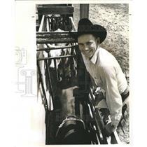 1966 Press Photo Charlie Driver, cowboy. - RSH44107