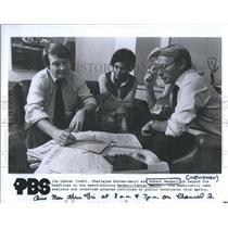 1979 Press Photo News Reporter Robert MacNeil,Jim Lehrer,Charlayne Hunter-Gault