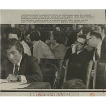 1973 Press Photo Senate Watergate Committee Witness Gerald Alch James McCord