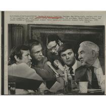 1973 Press Photo Senate Watergate Committee, Chairman Sam Ervin and Staff.