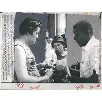 1967 Press Photo Herman McDaniel Jr Joyce Prescott - RSH17437