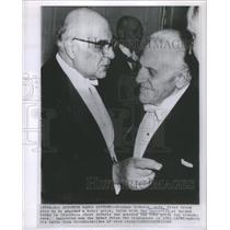 1963 Press Photo Giorges Seferis, Nobel Prize Winner - RSC60427