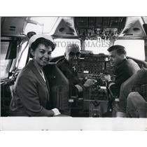 1966 Press Photo Crew of Flight 860 from Montreal Canada a DC-8 - KSB47105