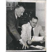 1951 Press Photo Lynn Patrick  - RSH31837