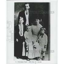1917 Press Photo Francis, Hannah Nixon, Harold, Don, Richard