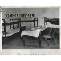 Press Photo American Legion declares this prison stockade unsafe, outdated