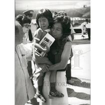 1973 Press Photo Released Passengers From Hijacked Japanese Plane - KSB70785