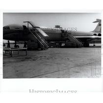 1970 Press Photo Soviet airliner Ilyushin 62 at Montreal Airport