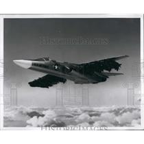 Press Photo USAF Strategic Air Command FB-111 Bomber Carrying Bombs Conception