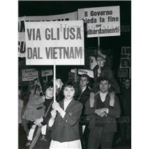 1967 Press Photo Communists March Against Vietnam - KSB53875