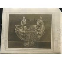 1914 Press Photo Antique Punch Bowl - XXB12643