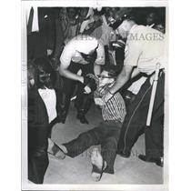 1963 Press Photo CORE member arrested by Chicago IL police  - RSH27665
