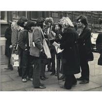1971 Press Photo Students Lobby MPs over expulsion of Rudi Dutschke