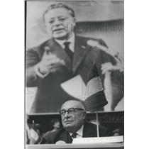 1966 Press Photo Communist Party Conference, Jacques Duclos, France