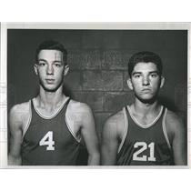 1959 Press Photo Young Basketball Players Jerry Alderson Ronnie Mullen