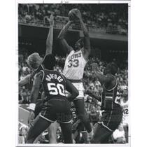 1988 Press Photo Houston Rockets' Otis Thorpe  - RSH33845