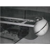 1957 Press Photo Testing-centrifuge for pilots at German Institute