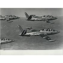 1957 Press Photo Magister Training Jet, French Army, Turbomeca Jets, Ceilina